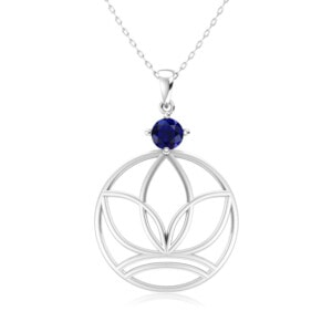 Elements Necklace Silver Earth (Sapphire)