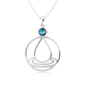 Elements Necklace Silver Water (Mystic Fire Topaz)