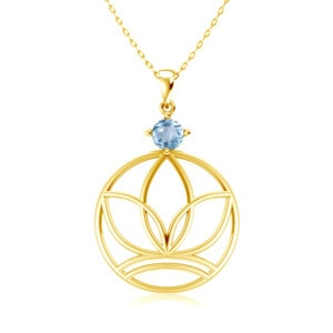 Elements Necklace Gold Earth (Aquamarine)