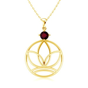 Elements Necklace Gold Earth (Garnet)