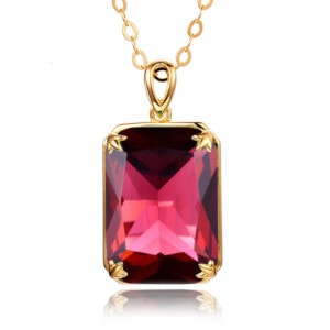 Soleil Necklace Gold (Ruby)