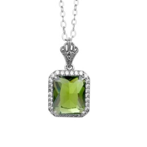Revere Necklace Silver (Peridot)