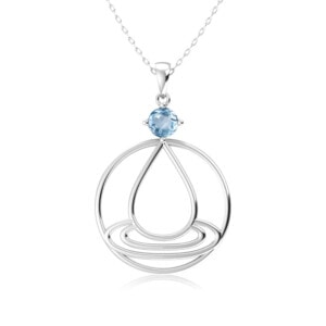 Elements Necklace Silver Water (Aquamarine)